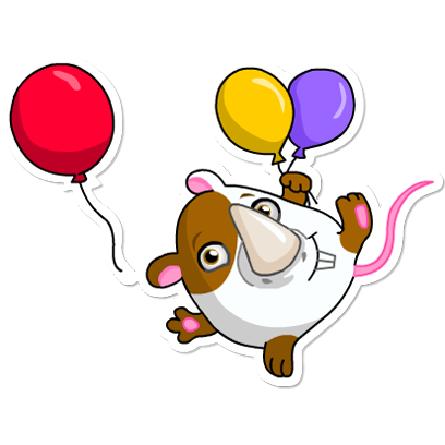 Cute Hamster messages sticker-3