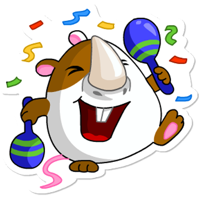 Cute Hamster messages sticker-2