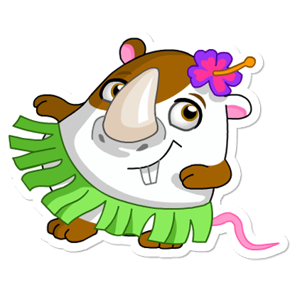 Cute Hamster messages sticker-1