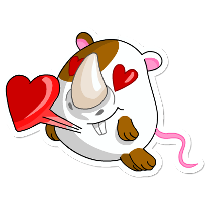 Cute Hamster messages sticker-10