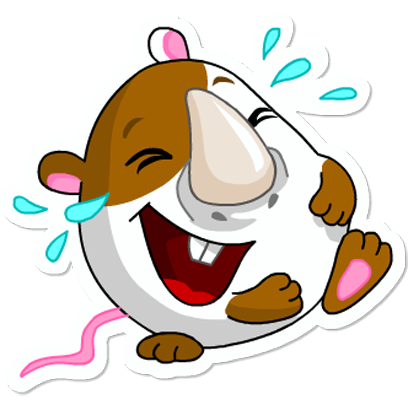 Cute Hamster messages sticker-0
