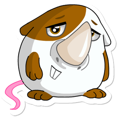 Cute Hamster messages sticker-6