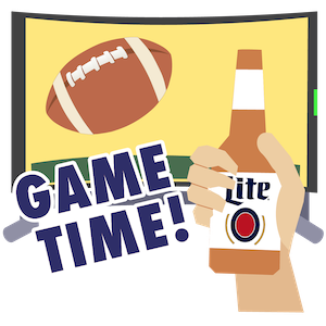 Football Stickers by Miller Lite messages sticker-5