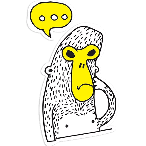 Isis the Monkey messages sticker-10