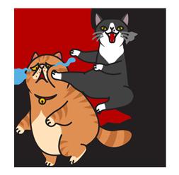 Two Cat Friends messages sticker-3