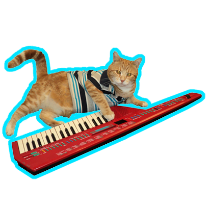 Keyboard Cat Stickers! messages sticker-9