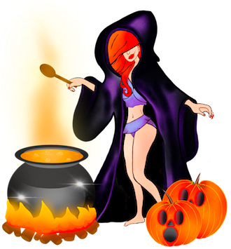 Synthia Halloween messages sticker-10