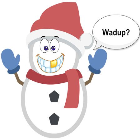 Silly Christmas Snowman messages sticker-8