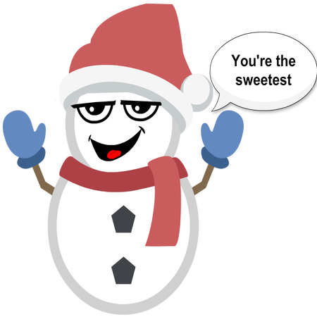 Silly Christmas Snowman messages sticker-9
