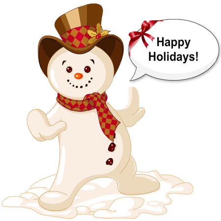 Silly Christmas Snowman messages sticker-0