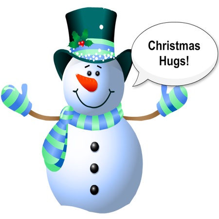 Silly Christmas Snowman messages sticker-1
