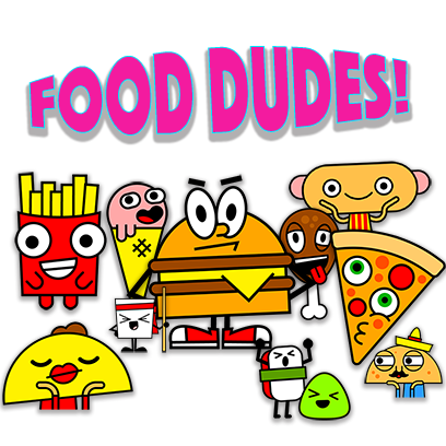 Food Dudes! Stickers! messages sticker-0