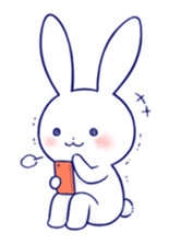 Rabbit Fun Stickers Chat messages sticker-4