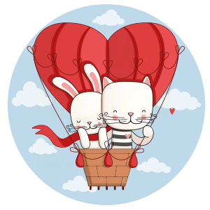 Megapack Cat & Hare  –  Couples Stickers messages sticker-8