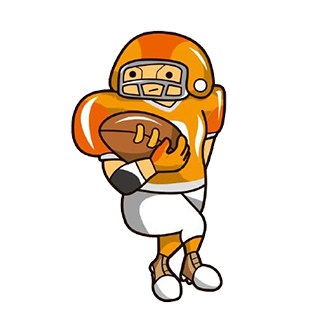 Cartoon Football Sticker - Emoji messages sticker-4