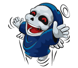 Mr. Blue Reaper for Winter messages sticker-2