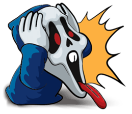 Mr. Blue Reaper for Winter messages sticker-7