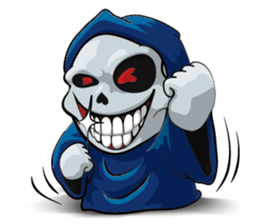 Mr. Blue Reaper for Winter messages sticker-1