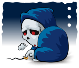 Mr. Blue Reaper for Winter messages sticker-6