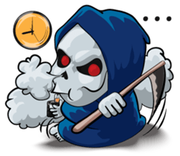 Mr. Blue Reaper for Winter messages sticker-4