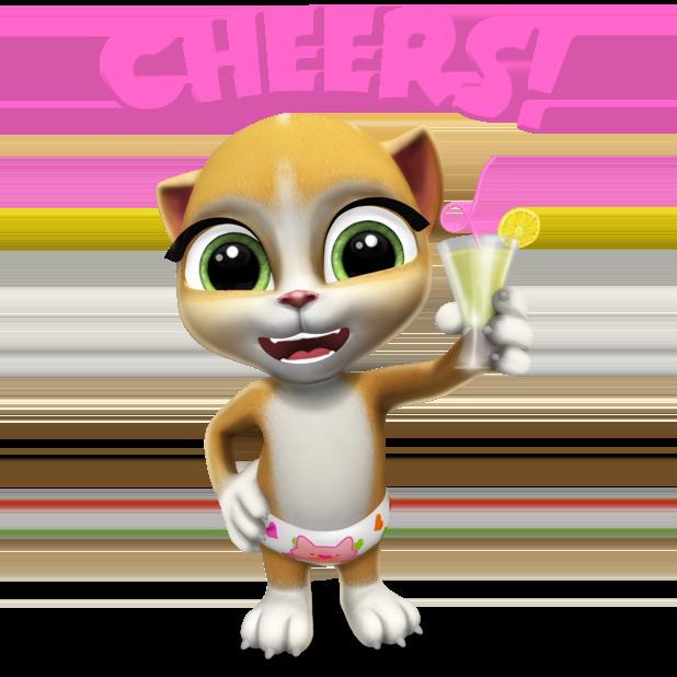 My Talking Virtual Cat Emma messages sticker-2