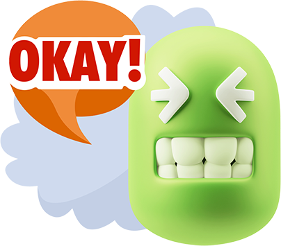 3D Thank You, Sorry, Never Mind, It's Okay! messages sticker-0