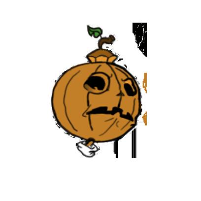 Jack-O-pumkin messages sticker-3