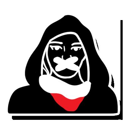 Noizz Zaczepki Czarny Protest messages sticker-2