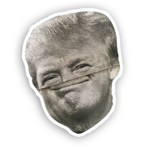 Trump Folds messages sticker-9