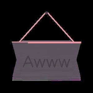 Hang a Sign! (Pink/Dark Violet) messages sticker-4