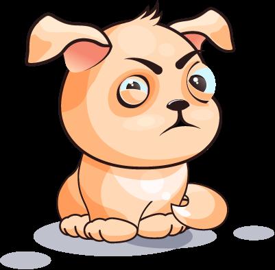 Dog Cute Sticker Pack 02 messages sticker-10
