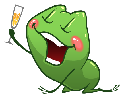 Frog Emotion Cute Sticker messages sticker-4