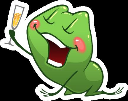 Frog Emotion Cute Sticker messages sticker-4