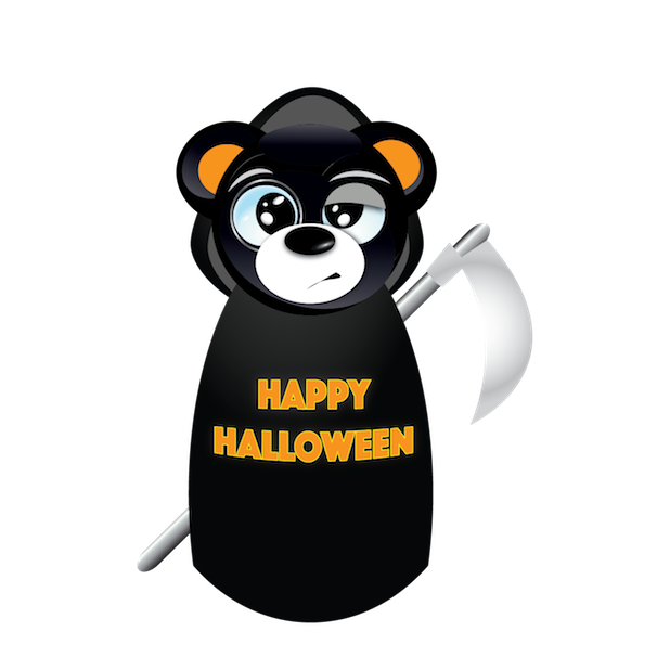 Halloween & Baddy Bear messages sticker-11