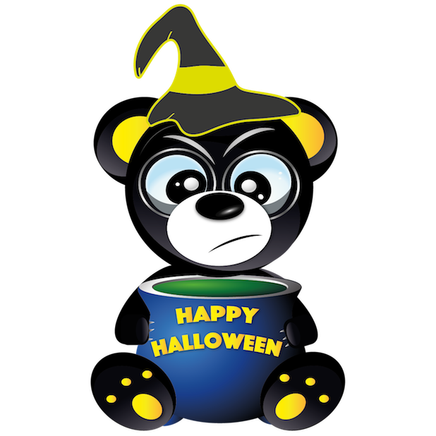 Halloween & Baddy Bear messages sticker-1