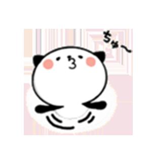Panda Emo messages sticker-4