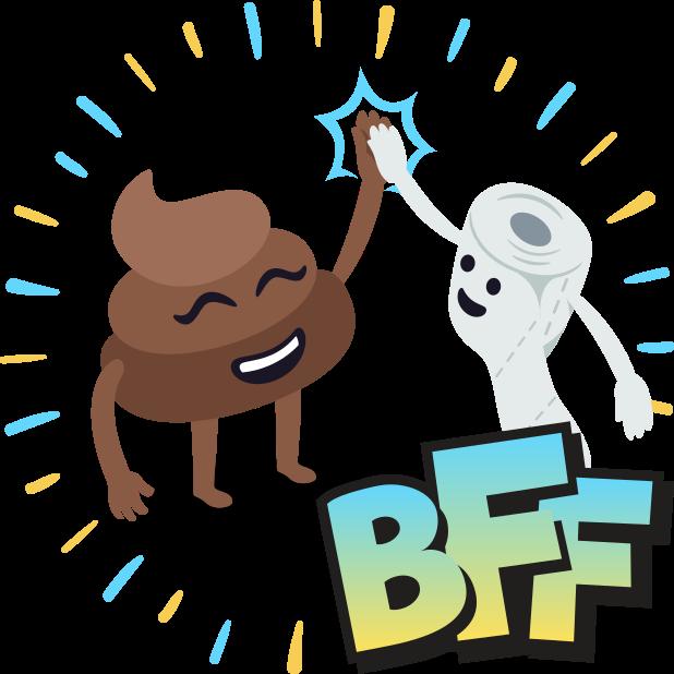 Happy Poo: Stickers by EmojiOne messages sticker-1