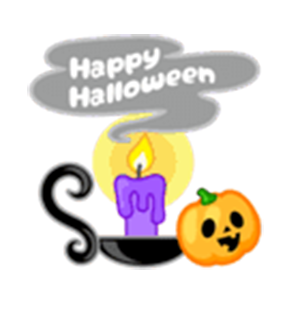Beauty Halloween messages sticker-0