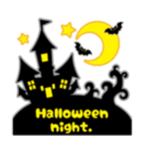 Beauty Halloween messages sticker-1