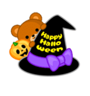 Beauty Halloween messages sticker-2