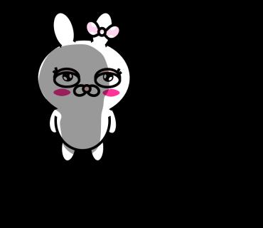 Blusher rabbit messages sticker-10