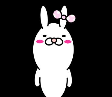 Blusher rabbit messages sticker-11