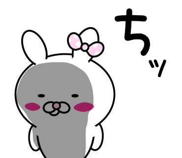 Blusher rabbit messages sticker-8