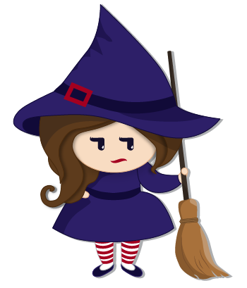 Halloween Witch messages sticker-3