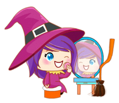 Little Witch - Cute witch stickers messages sticker-10