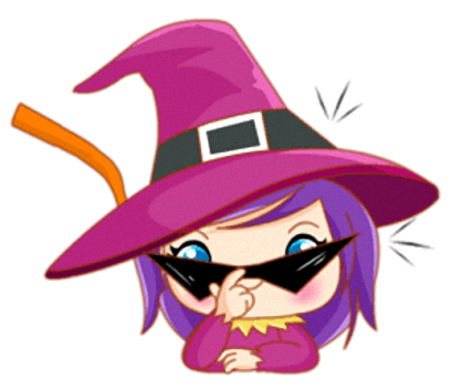 Little Witch - Cute witch stickers messages sticker-6