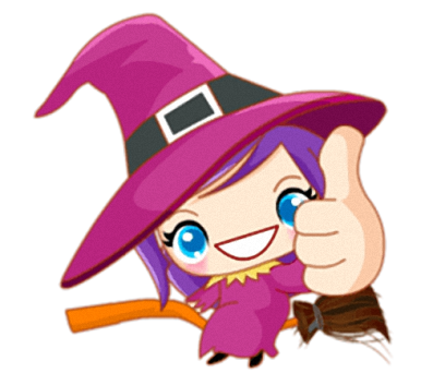 Little Witch - Cute witch stickers messages sticker-2