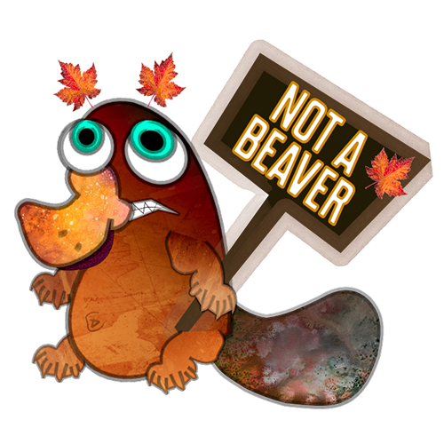 NOT BEAVER NOT DUCK messages sticker-5