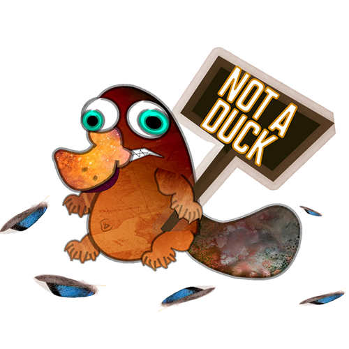 NOT BEAVER NOT DUCK messages sticker-3