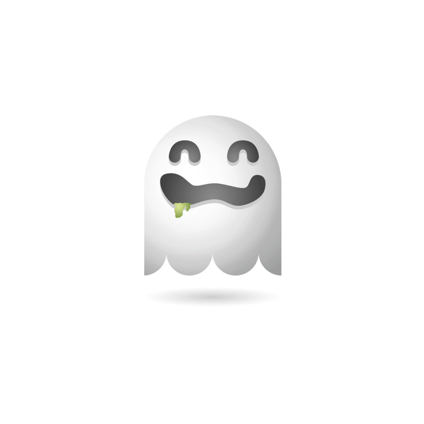 Ghosty Emoji messages sticker-2